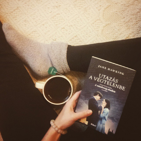 A cup of tea and a good book = happiness